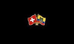 Pin's épinglette de l'amitié Suisse - Équateur - 22 mm