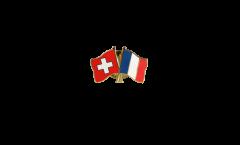 Pin's épinglette de l'amitié Suisse - France - 22 mm