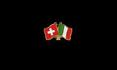 Pin's épinglette de l'amitié Suisse - Italie - 22 mm