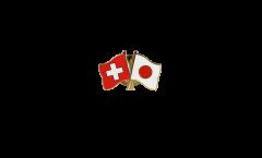 Pin's épinglette de l'amitié Suisse - Japon - 22 mm