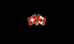 Pin's épinglette de l'amitié Suisse - Canada - 22 mm