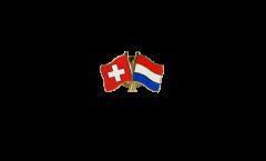 Pin's épinglette de l'amitié Suisse - Pays-Bas - 22 mm