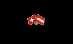 Pin's épinglette de l'amitié Suisse - Autriche - 22 mm
