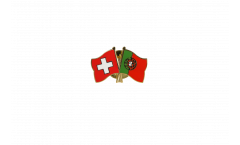 Pin's épinglette de l'amitié Suisse - Portugal - 22 mm
