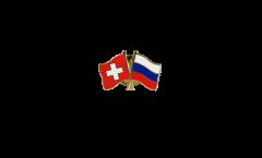 Pin's épinglette de l'amitié Suisse - Russie - 22 mm