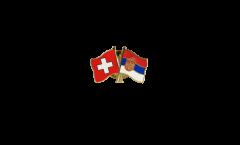 Pin's épinglette de l'amitié Suisse - Slovaquie - 22 mm