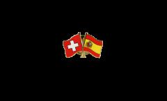 Pin's épinglette de l'amitié Suisse - Espagne - 22 mm
