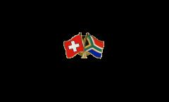 Pin's épinglette de l'amitié Suisse - Afrique du Sud - 22 mm