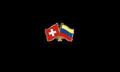 Pin's épinglette de l'amitié Suisse - Venezuela 8 Etoiles - 22 mm