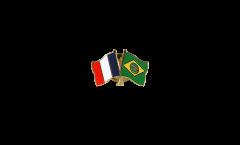 Pin's épinglette de l'amitié France - Brésil - 22 mm