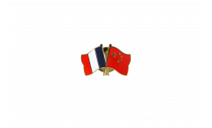 Pin's épinglette de l'amitié France - Chine - 22 mm