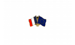 Pin's épinglette de l'amitié France - Europe - 22 mm