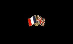Pin's épinglette de l'amitié France - Royaume-Uni - 22 mm