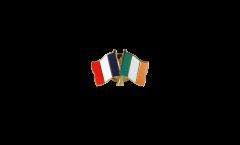 Pin's épinglette de l'amitié France - Irlande - 22 mm