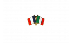 Pin's épinglette de l'amitié France - Italie - 22 mm