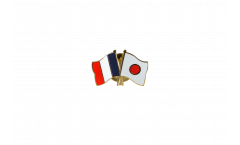 Pin's épinglette de l'amitié France - Japon - 22 mm