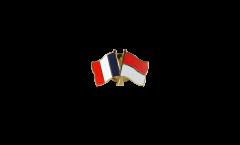 Pin's épinglette de l'amitié France - Monaco - 22 mm