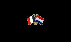 Pin's épinglette de l'amitié France - Pays-Bas - 22 mm