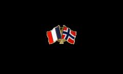 Pin's épinglette de l'amitié France - Norvège - 22 mm