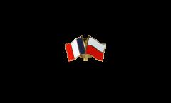 Pin's épinglette de l'amitié France - Pologne - 22 mm