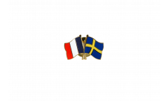 Pin's épinglette de l'amitié France - Suède - 22 mm