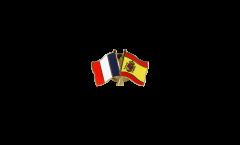 Pin's épinglette de l'amitié France - Espagne - 22 mm