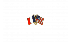 Pin's épinglette de l'amitié France - USA - 22 mm