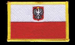 Écusson brodé Pologne avec aigle - 8 x 6 cm