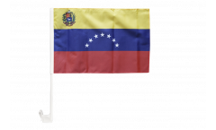 Drapeau de voiture Venezuela 7 Etoiles avec blason 1930-2006 - 30 x 40 cm