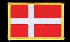 Écusson brodé Danemark - 8 x 6 cm