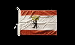 Drapeau pour bateau Allemagne Berlin Ours avec couronne - 30 x 40 cm