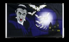 Drapeau de balcon Halloween Vampire et Chauves-souris - 90 x 150 cm
