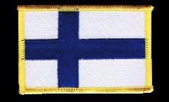 Écusson brodé Finlande - 8 x 6 cm