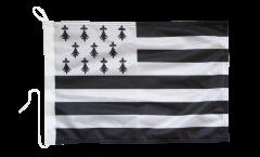 Drapeau pour bateau France Bretagne - 30 x 40 cm