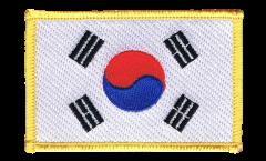Écusson brodé Corée du Sud - 8 x 6 cm