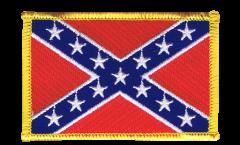 Écusson brodé confédéré USA Sudiste - 8 x 6 cm