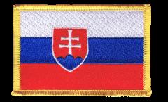 Écusson brodé Slovaquie - 8 x 6 cm