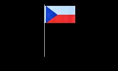 Drapeau en papier République tchèque - 12 x 24 cm