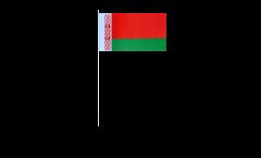 Drapeau en papier Bélarus / Biélorussie - 12 x 24 cm