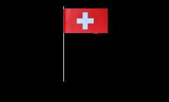 Drapeau en papier Suisse - 12 x 24 cm