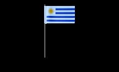 Drapeau en papier Uruguay - 12 x 24 cm