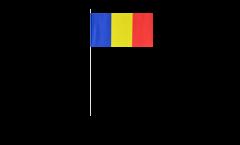 Drapeau en papier Roumanie - 12 x 24 cm