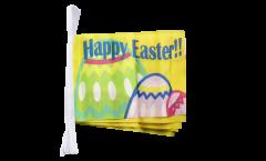 Guirlande Happy Easter Joyeuses Pâques - 15 x 22 cm