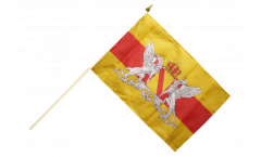 Drapeau Allemagne Grand-Duché de Bade avec Blason sur hampe - 30 x 45 cm