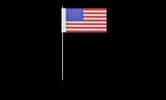 Drapeau en papier USA - 12 x 24 cm