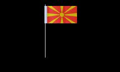 Drapeau en papier Macédoine - 12 x 24 cm