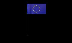 Drapeau en papier Union européenne UE - 12 x 24 cm