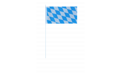Drapeau en papier Allemagne Bavière sans blason - 12 x 24 cm