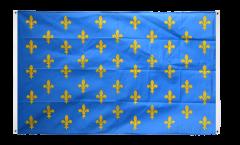 Drapeau de balcon France Fleur-de-Lys, bleu - 90 x 150 cm