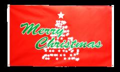 Drapeau de balcon Merry Christmas Arbre de Noël - 90 x 150 cm